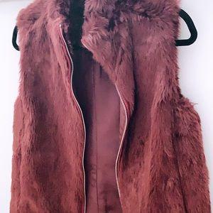 J. Crew Faux Fur Zip-up Vest